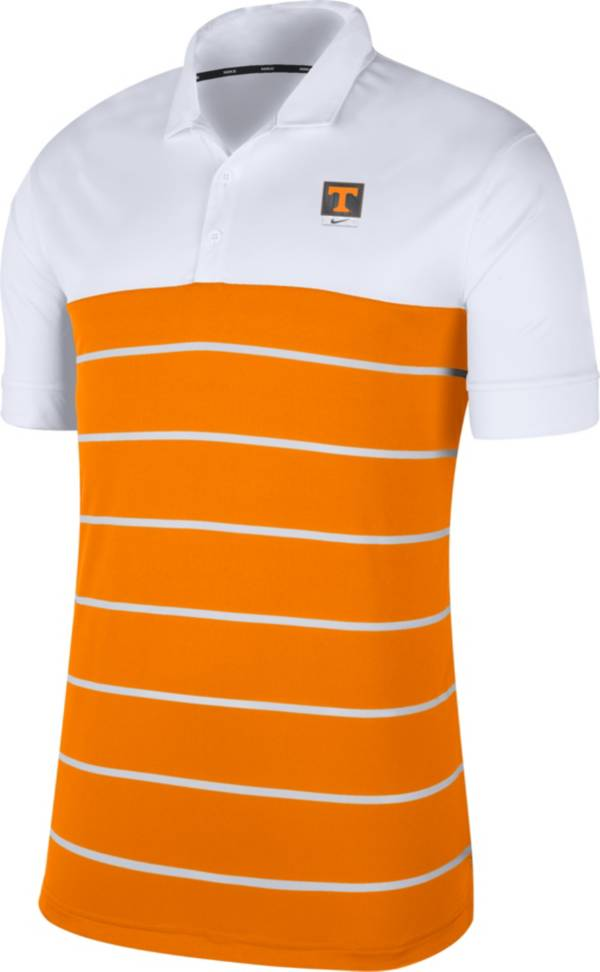 Nike Men's Tennessee Volunteers White/Tennessee Orange Striped Polo product image