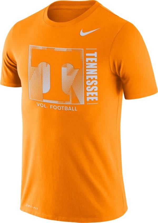 Nike Men's Tennessee Volunteers Tennessee Orange Team Issue Logo Football T-Shirt product image