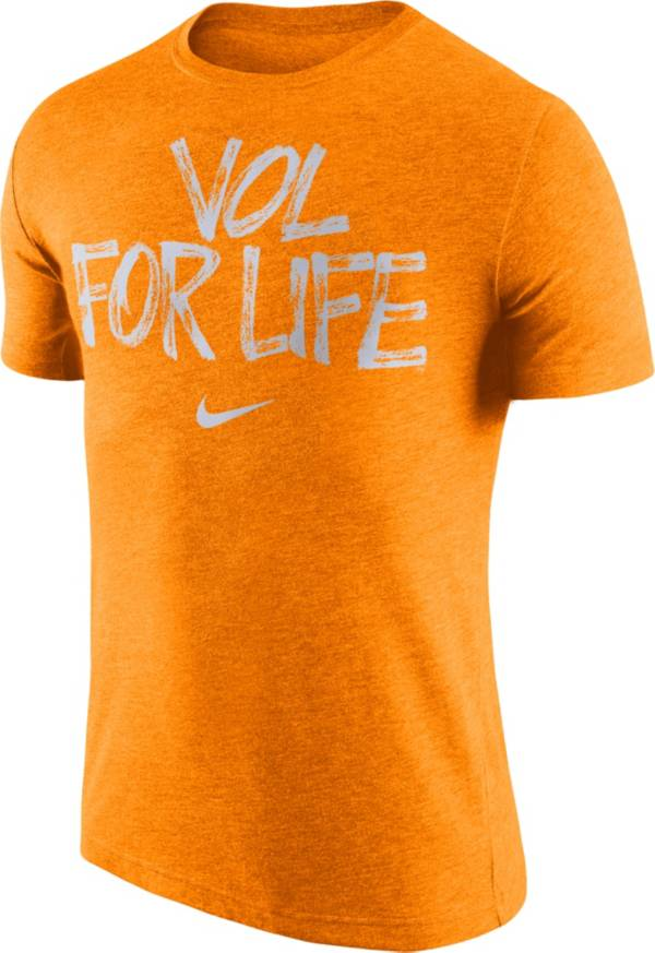 Nike Men's Tennessee Volunteers Tennessee Orange 'Vol For Life' Tri-Blend Verbiage T-Shirt product image