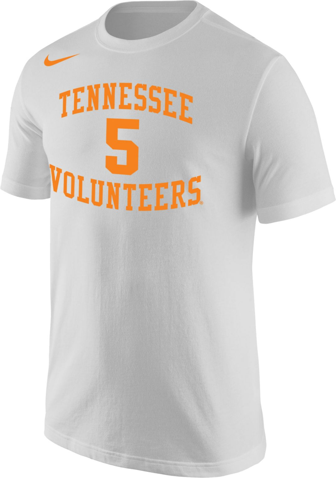 ae368caf0 Nike Men's Tennessee Volunteers #5 Dri-FIT Cotton White T-Shirt.  noImageFound. 1