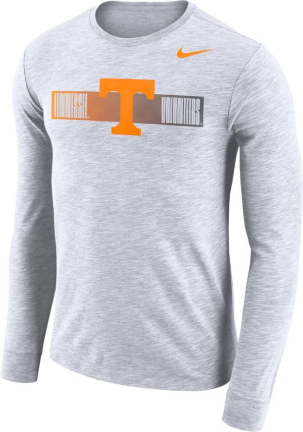 Nike Men's Tennessee Volunteers Dri-FIT Cotton Slub Logo Long Sleeve White T-Shirt product image