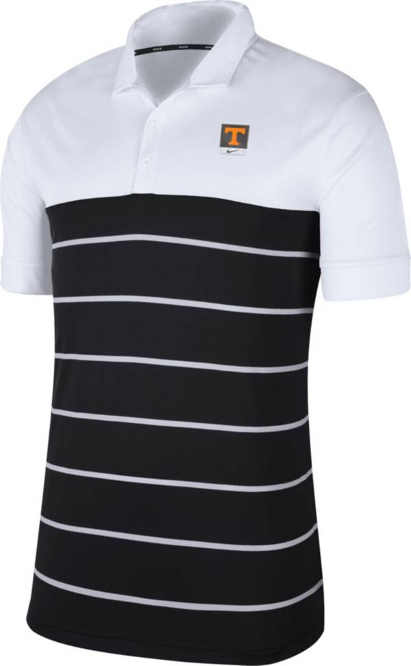 Nike Men's Tennessee Volunteers White/Black Striped Polo product image