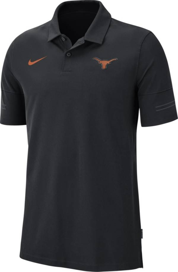 Nike Men's Texas Longhorns Elevated Flex On-Field Performance Black Polo product image