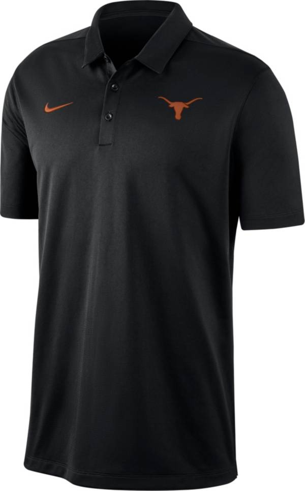 Nike Men's Texas Longhorns Dri-FIT Franchise Black Polo product image