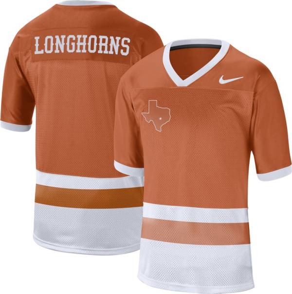 Nike Men's Texas Longhorns Burnt Orange Alternate Throwback Football Jersey product image