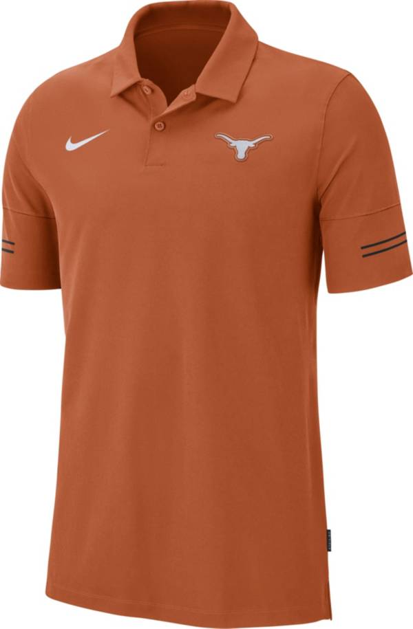 Nike Men's Texas Longhorns Burnt Orange Elevated Flex On-Field Performance Polo product image