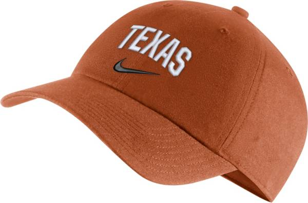 Nike Men's Texas Longhorns Burnt Orange Heritage86 Arch Wordmark Hat product image