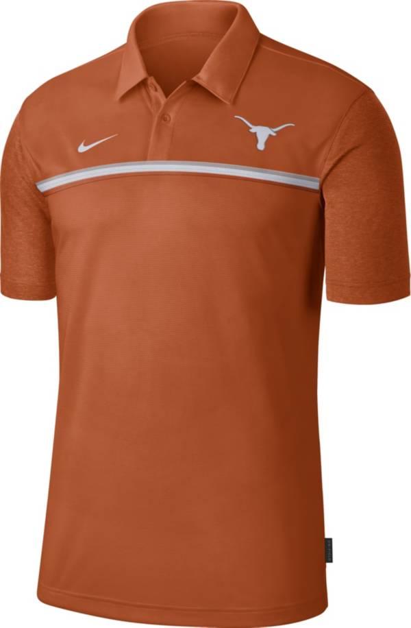 Nike Men's Texas Longhorns Burnt Orange Dri-FIT Football Sideline Polo product image