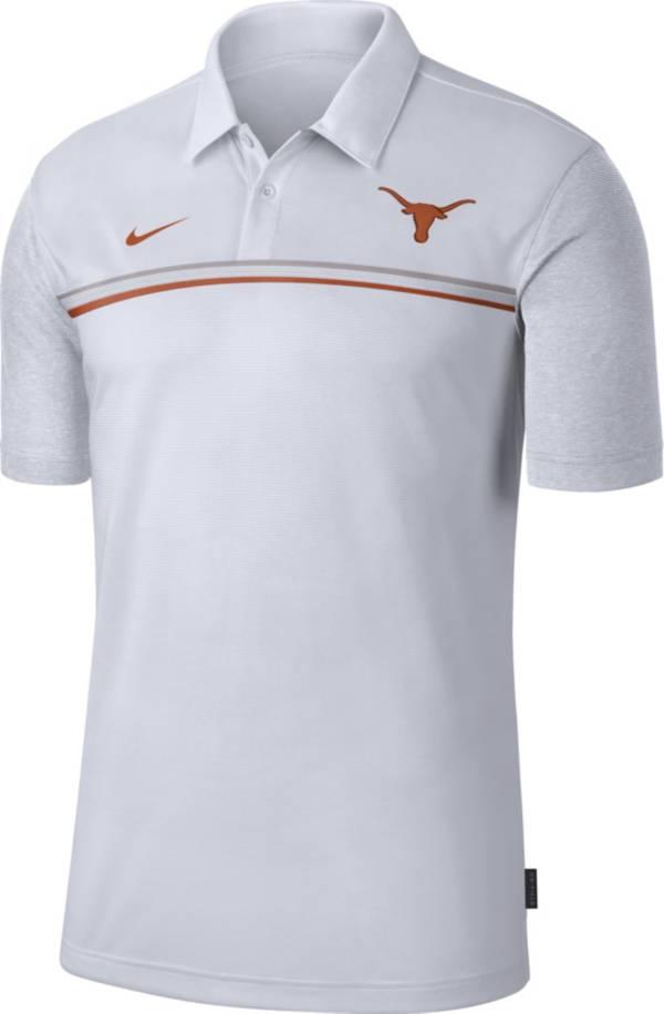 Nike Men's Texas Longhorns Dri-FIT Football Sideline White Polo product image