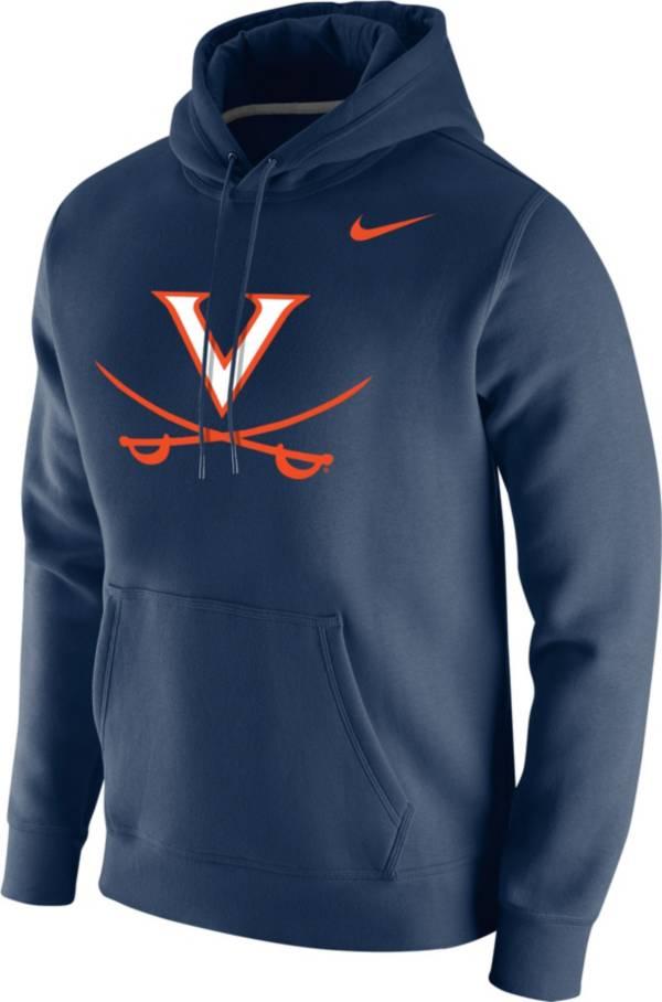 Nike Men's Virginia Cavaliers Blue Club Fleece Pullover Hoodie product image