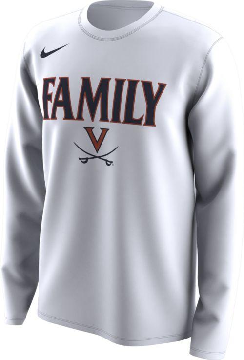 f5e3aac0 Nike Men's Virginia Cavaliers 'Family' Bench Long Sleeve White T ...