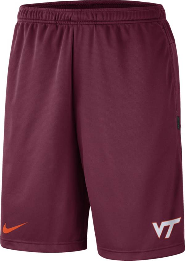 Nike Men's Virginia Tech Hokies Maroon Dri-FIT Coach Shorts product image