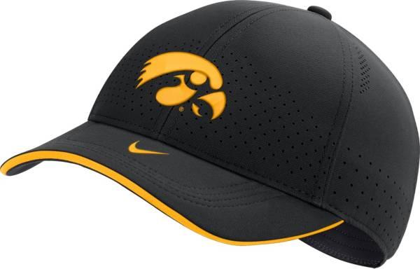 Nike Men's Iowa Hawkeyes AeroBill Classic99 Football Sideline Black Hat product image