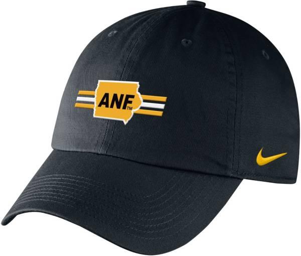 Nike Men's Iowa Hawkeyes ANF Campus Adjustable Black Hat product image