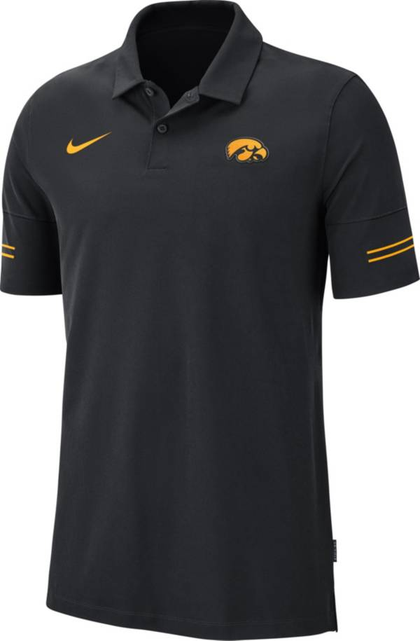 Nike Men's Iowa Hawkeyes Elevated Flex On-Field Performance Black Polo product image