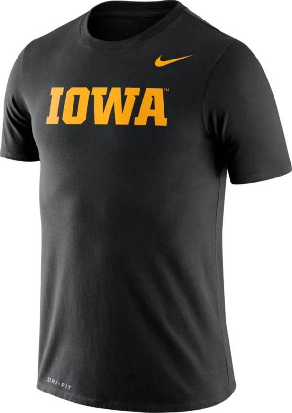 Nike Men's Iowa Hawkeyes Black Dri-FIT Legend Word T-Shirt product image