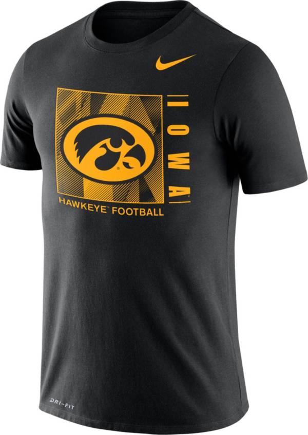 Nike Men's Iowa Hawkeyes Team Issue Logo Football Black T-Shirt product image