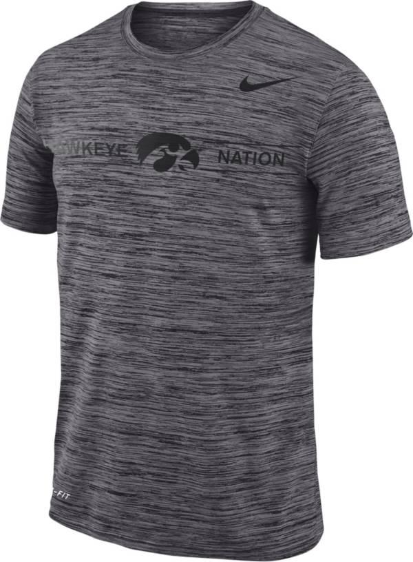 Nike Men's Iowa Hawkeyes Grey Velocity 'Hawkeye Nation' Football T-Shirt product image