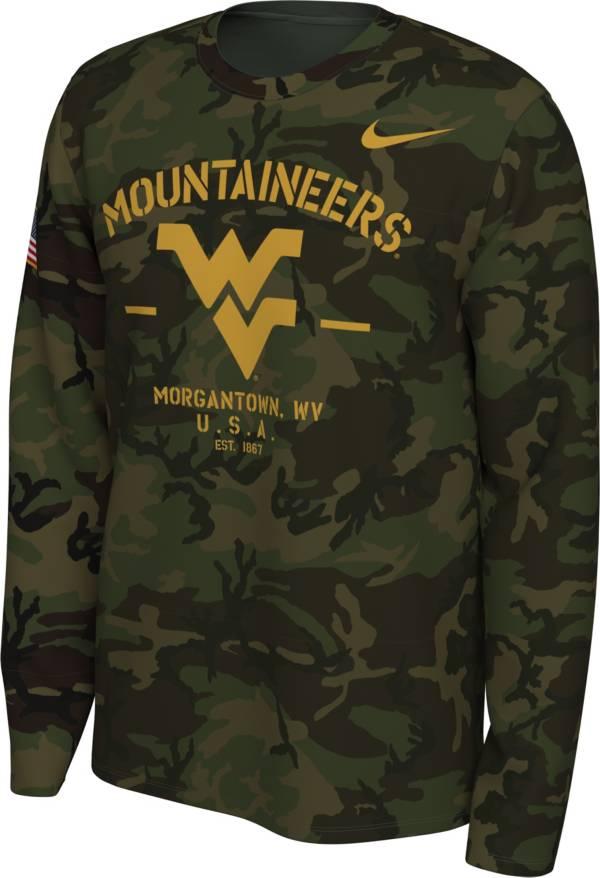 Nike Men's West Virginia Mountaineers Camo Veteran Long Sleeve T-Shirt product image