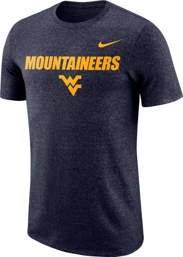 Nike Men's West Virginia Mountaineers Blue Marled Logo T-Shirt product image