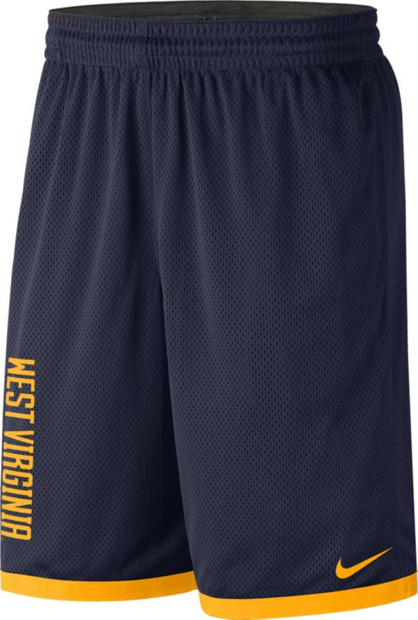 Nike Men's West Virginia Mountaineers Blue Dri-FIT Mesh Basketball Shorts product image