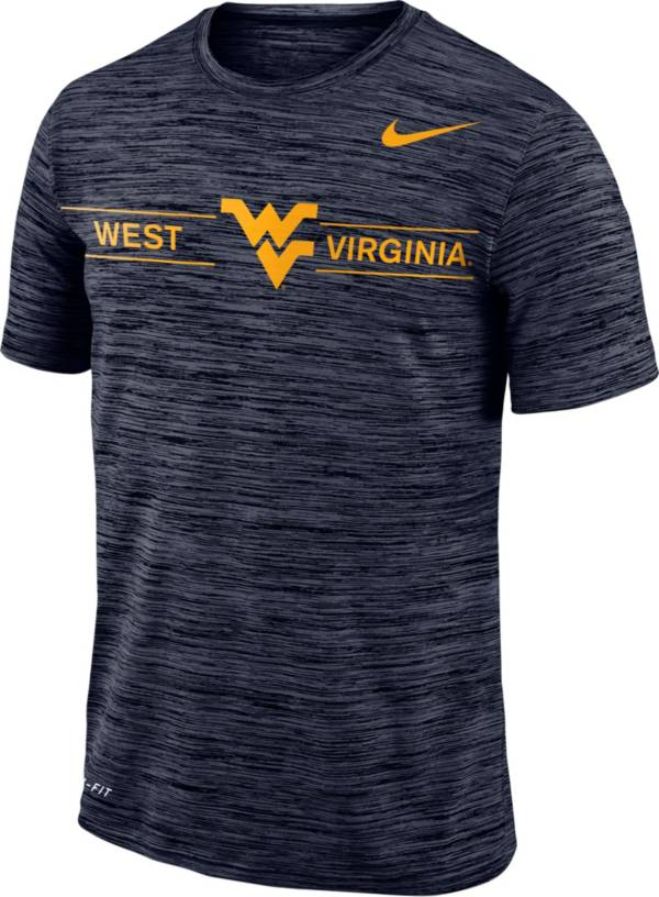 Nike Men's West Virginia Mountaineers Blue Velocity Football T-Shirt product image