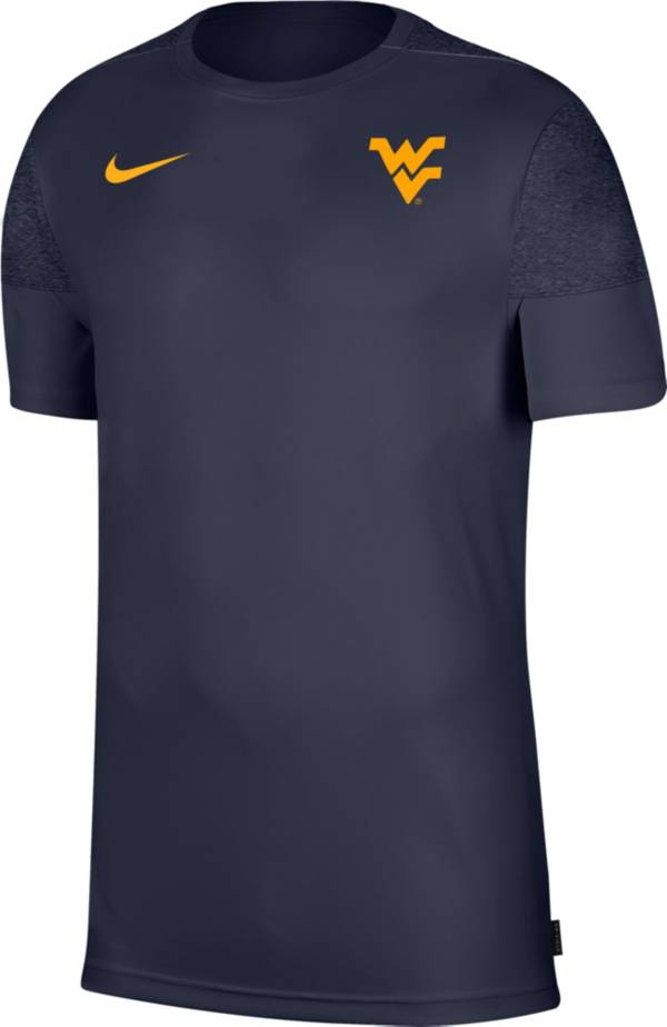 Nike Men's West Virginia Mountaineers Blue Top Coach UV T-Shirt product image