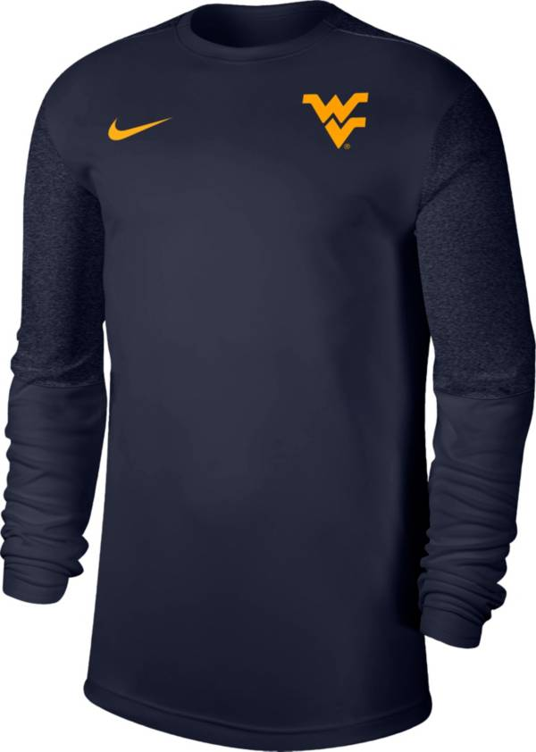 Nike Men's West Virginia Mountaineers Blue Top Coach UV Football Long Sleeve T-Shirt product image