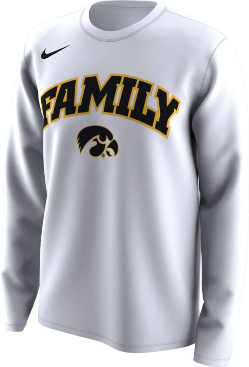 Nike Men s Iowa Hawkeyes  Family  Bench Long Sleeve White T-Shirt.  noImageFound. Previous 824ac8625
