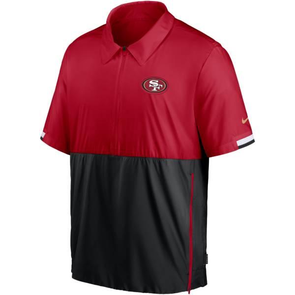 Nike Men's San Francisco 49ers Coaches Sideline Half-Zip Jacket product image