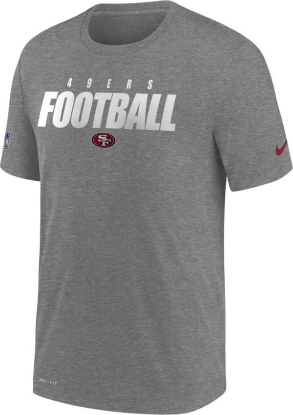 Nike Men's San Francisco 49ers Sideline Dri-FIT Cotton Football All Grey T-Shirt product image