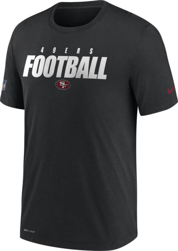 Nike Men's San Francisco 49ers Sideline Dri-FIT Cotton Football All Black T-Shirt product image