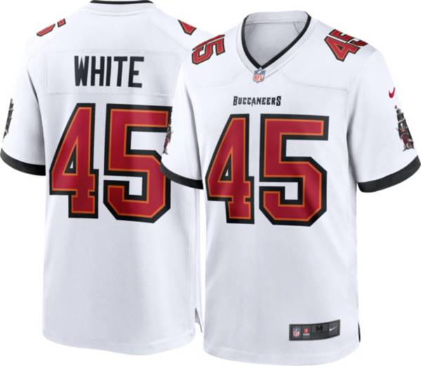 Nike Men's Tampa Bay Buccaneers Devin White #45 Away White Game Jersey product image