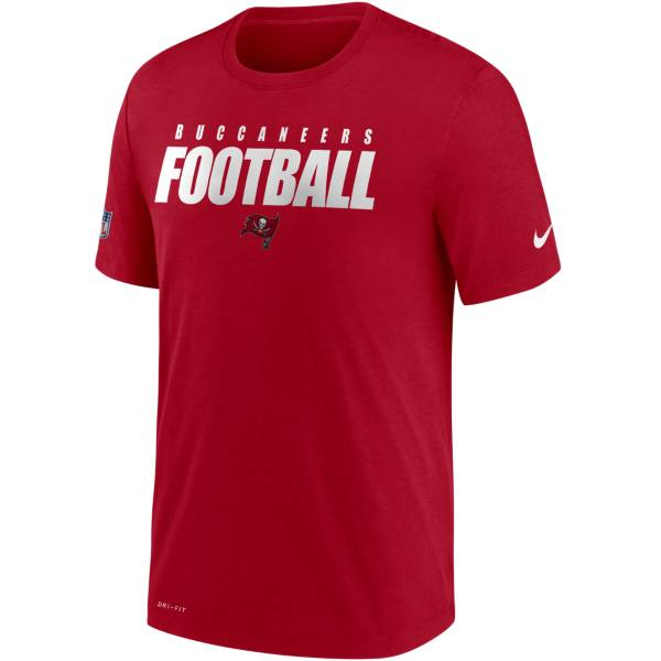 Nike Men's Tampa Bay Buccaneers Sideline Dri-FIT Cotton Football All Red T-Shirt product image