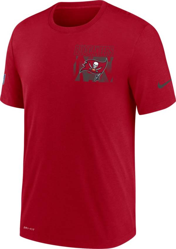 Nike Men's Tampa Bay Buccaneers Sideline Dri-FIT Cotton Facility Red T-Shirt product image