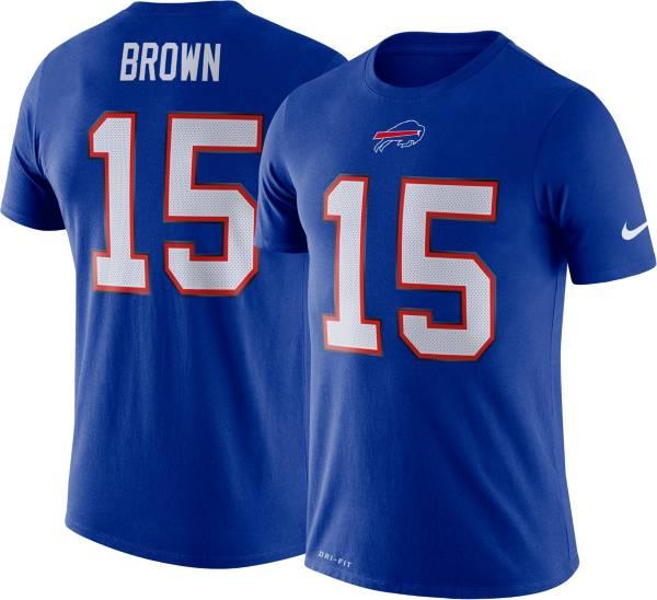 Nike Men's Buffalo Bills John Brown #15 Logo Royal T-Shirt