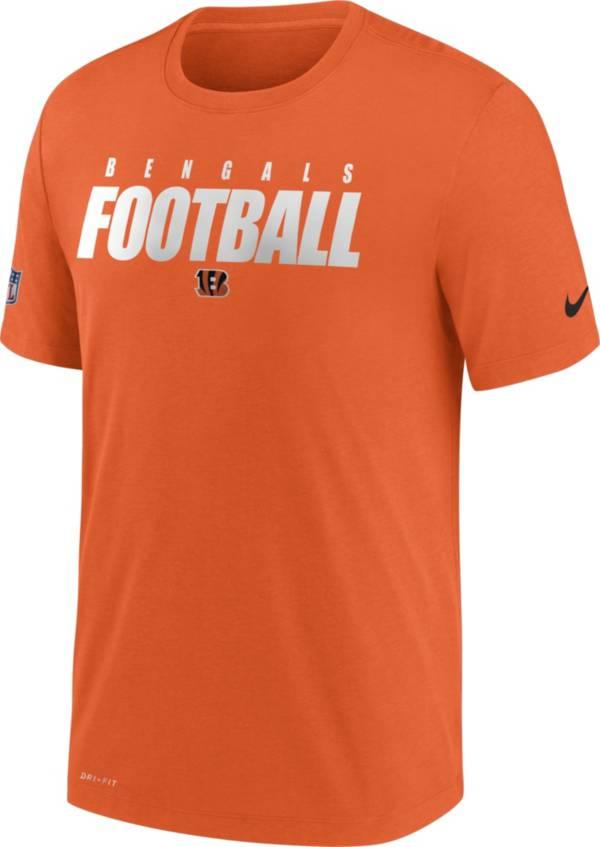 Nike Men's Cincinnati Bengals Sideline Dri-FIT Cotton Football All Orange T-Shirt product image