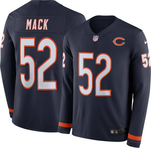 Nike Men's Chicago Bears Khalil Mack #52 Therma-FIT Long Sleeve Jersey product image