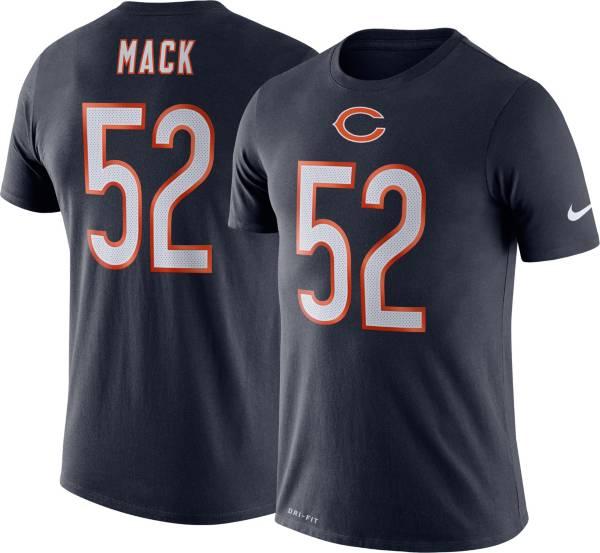 Nike Men's Chicago Bears Khalil Mack #52 Logo Navy T-Shirt product image