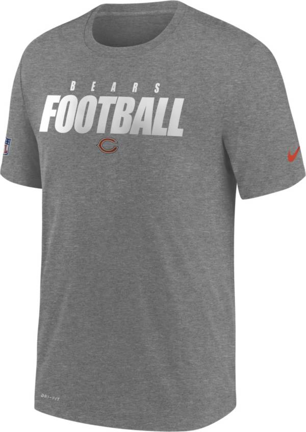 Nike Men's Chicago Bears Sideline Dri-FIT Cotton Football All Grey T-Shirt product image