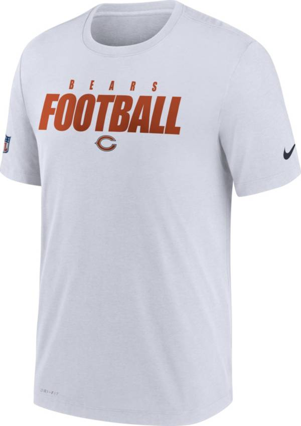 Nike Men's Chicago Bears Sideline Dri-FIT Cotton Football All White T-Shirt product image