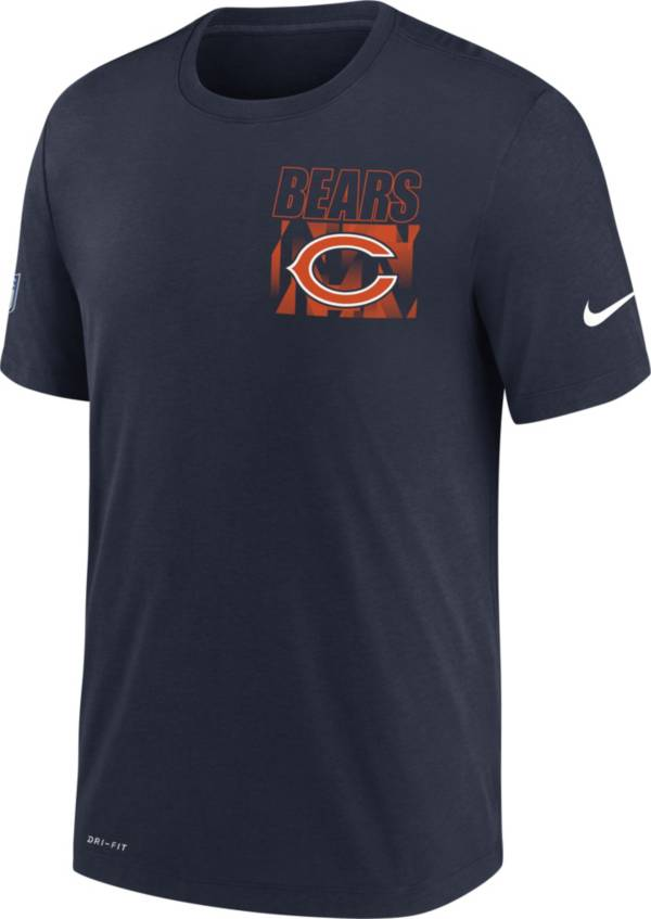 Nike Men's Chicago Bears Sideline Dri-FIT Cotton Facility Navy T-Shirt product image