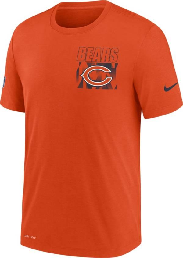 Nike Men's Chicago Bears Sideline Dri-FIT Cotton Facility Orange T-Shirt product image