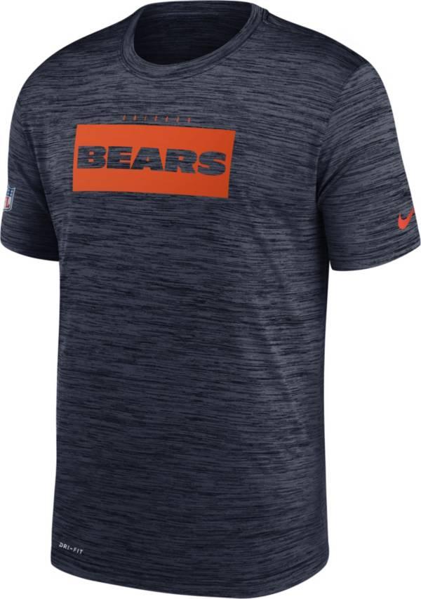 Nike Men's Chicago Bears Sideline Legend Velocity Navy T-Shirt product image