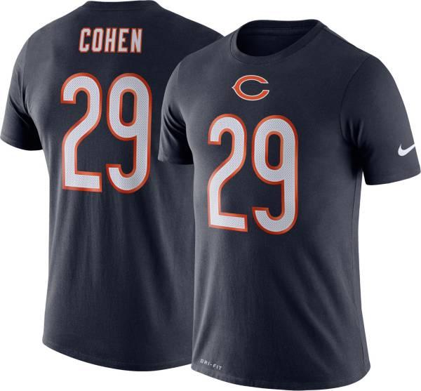 Nike Men's Chicago Bears Tarik Cohen #29 Logo Navy T-Shirt product image