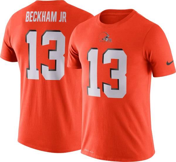 Nike Men's Cleveland Browns Odell Beckham Jr. #13 Logo Orange T-Shirt product image