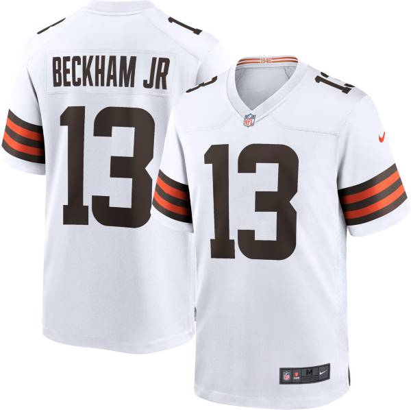 Nike Men's Cleveland Browns Odell Beckham Jr. #13 Away White Game Jersey product image