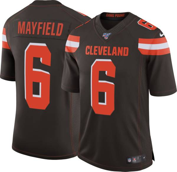 Nike Men's 100th Home Limited Jersey Cleveland Browns Baker Mayfield #6 product image