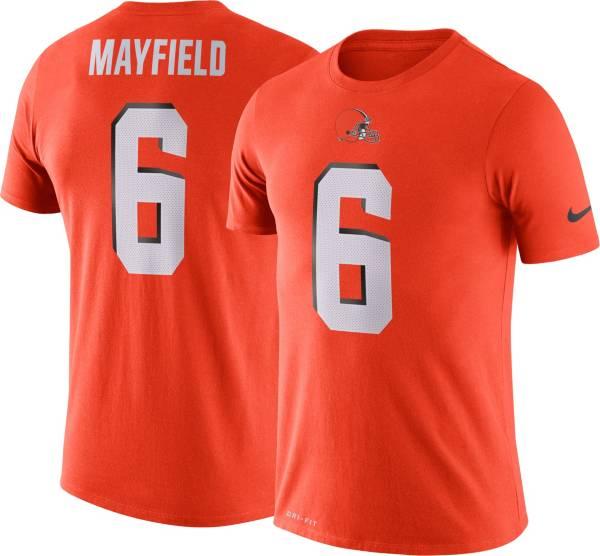 Nike Men's Cleveland Browns Baker Mayfield #6 Logo Orange T-Shirt product image