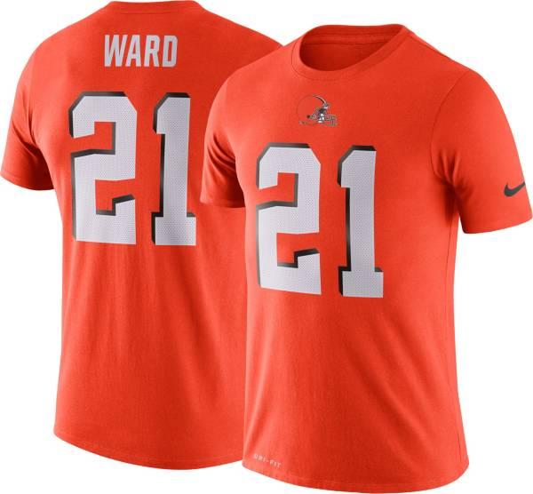 Nike Men's Cleveland Browns Denzel Ward #21 Logo Orange T-Shirt product image
